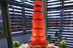 Red Chocolate Fountain Hire