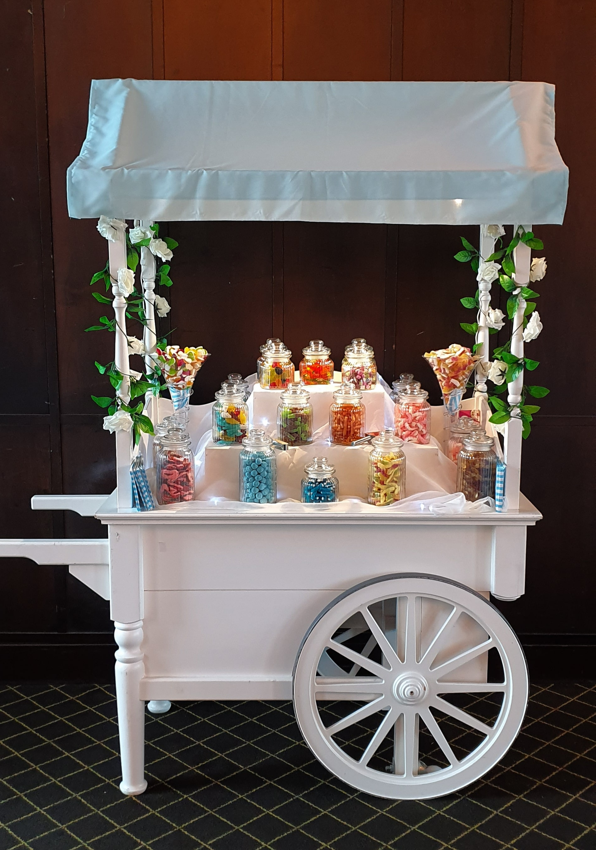 Luxury Candy Cart Hire by Carolyn's Sweets. Prices from €299