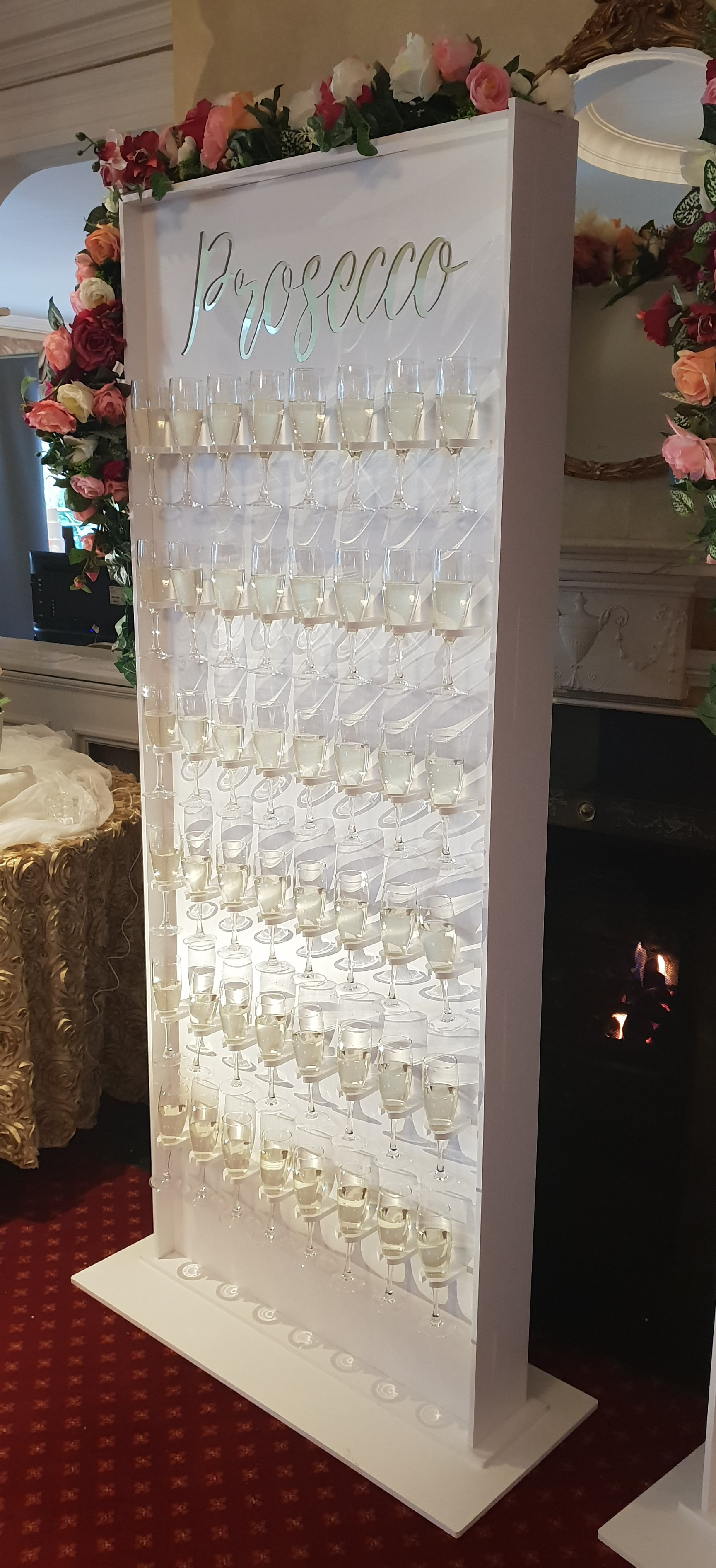 Prosecco Wall Carolyn S Sweets Chocolate Fountains